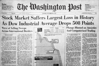 Top Headlines From Black Monday and the Stock Market Crash of 1987 - TheStreet