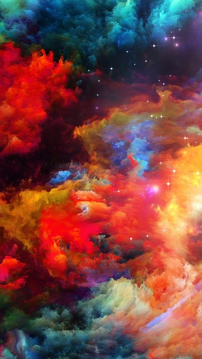 Wallpaper Colorful space, abstract design, stars 2560x1920 HD Picture, Image