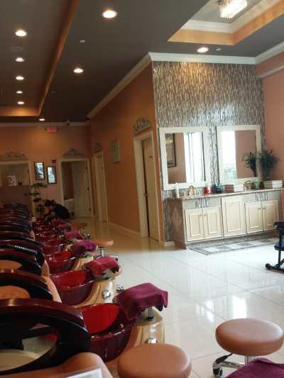 Inside salon in pedicure area. - Yelp