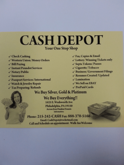 Cash Depot - Check Cashing/Pay-day Loans - 1625 Wadsworth ...