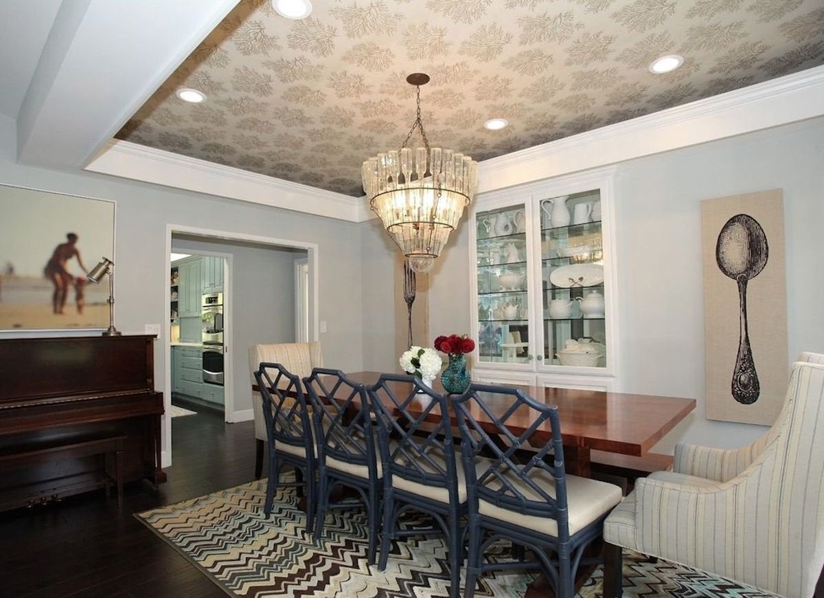 Wallpapered Tray Ceiling - Wallpapered Rooms - 12 Photos to Inspire - Bob Vila
