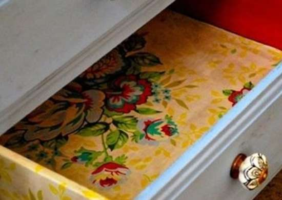 Drawer Liner - Repurposing Wallpaper - 12