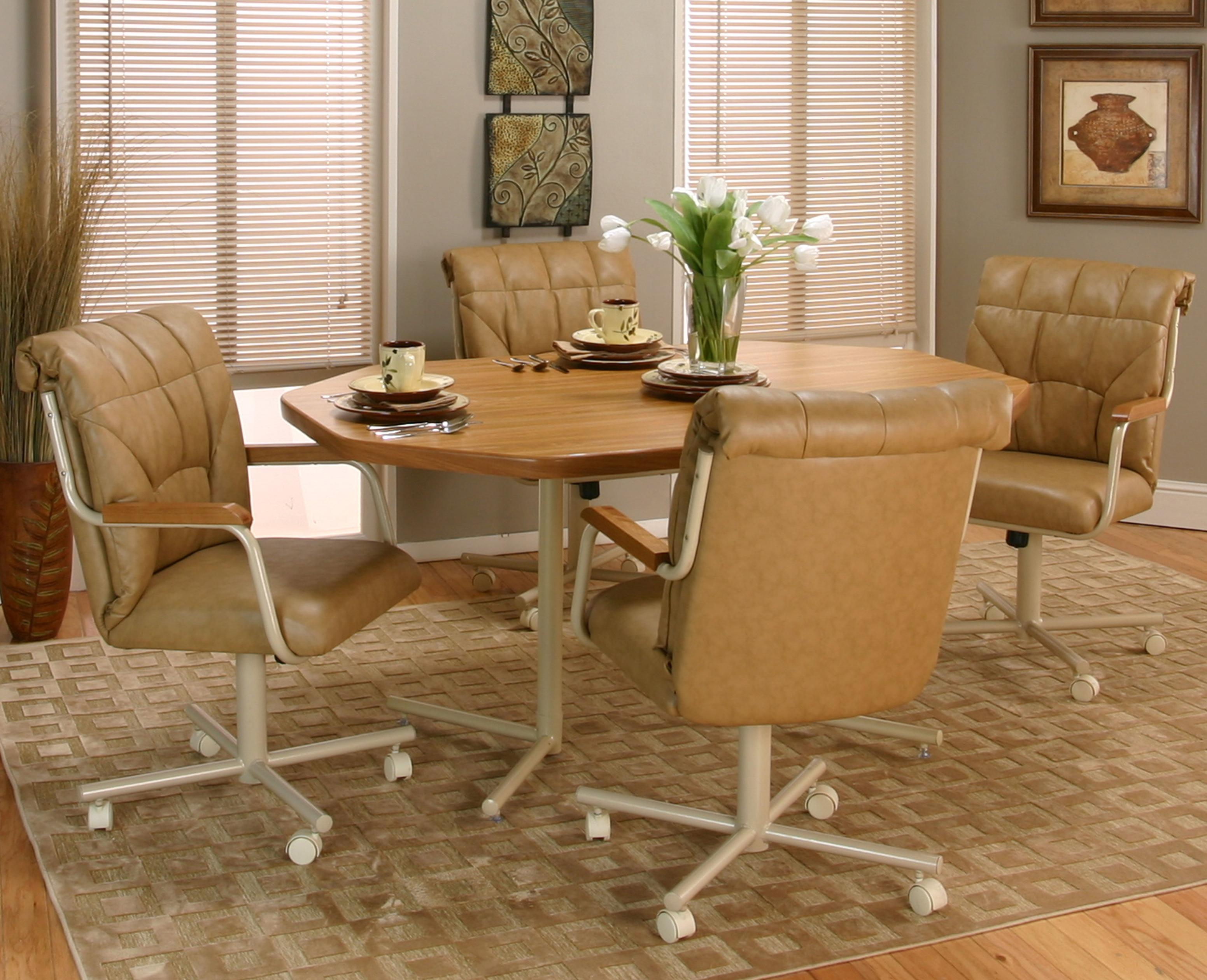 kitchen chairs with casters Tilt Swivel Chair