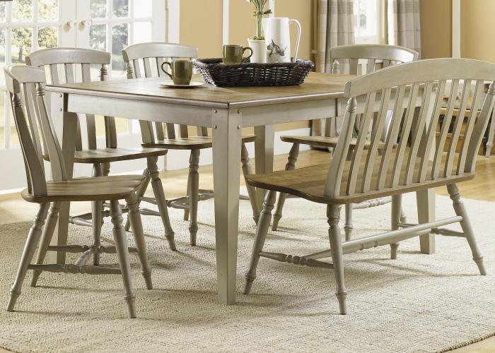 kitchen table bench seat Six Piece Dining Table Set with Chairs and Bench
