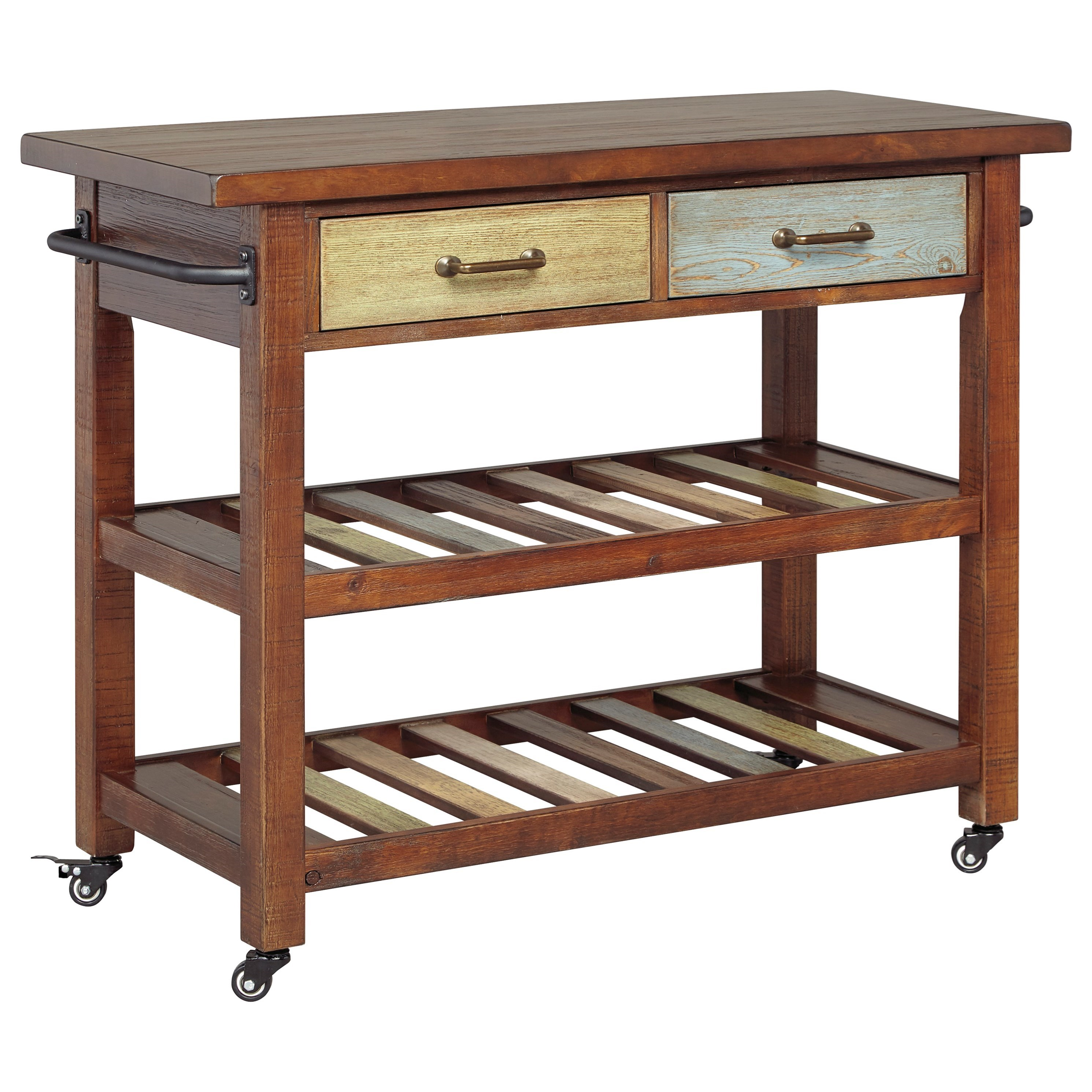 kitchen chairs with casters Multicolor Kitchen Cart with Locking Casters