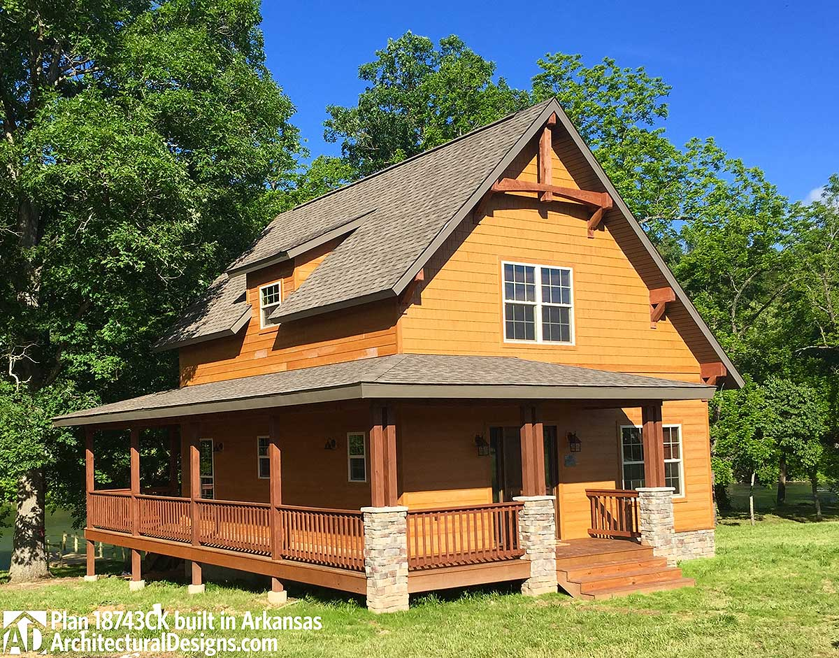 Classic Small Rustic Home Plan - 18743CK | Architectural ...
