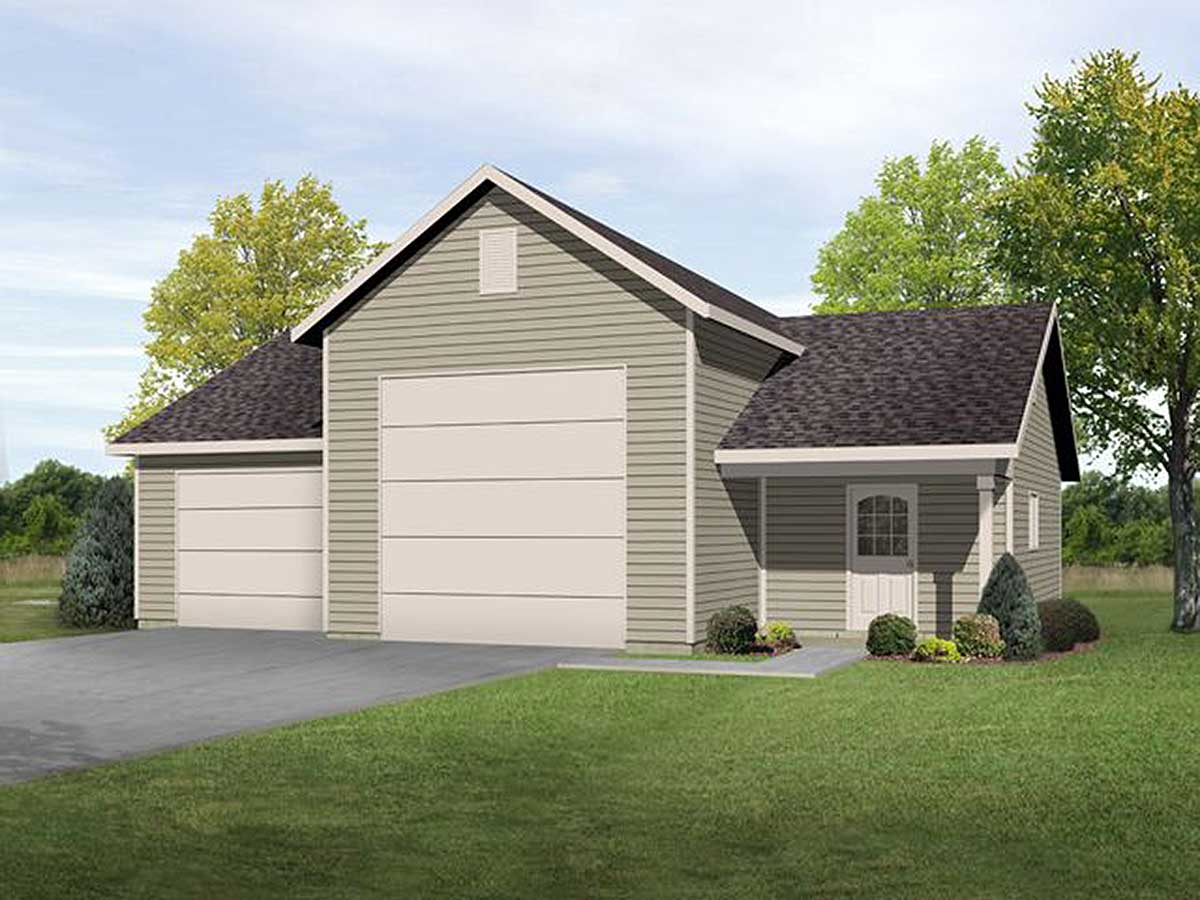 RV Garage with Shop - 22099SL | Architectural Designs - House Plans