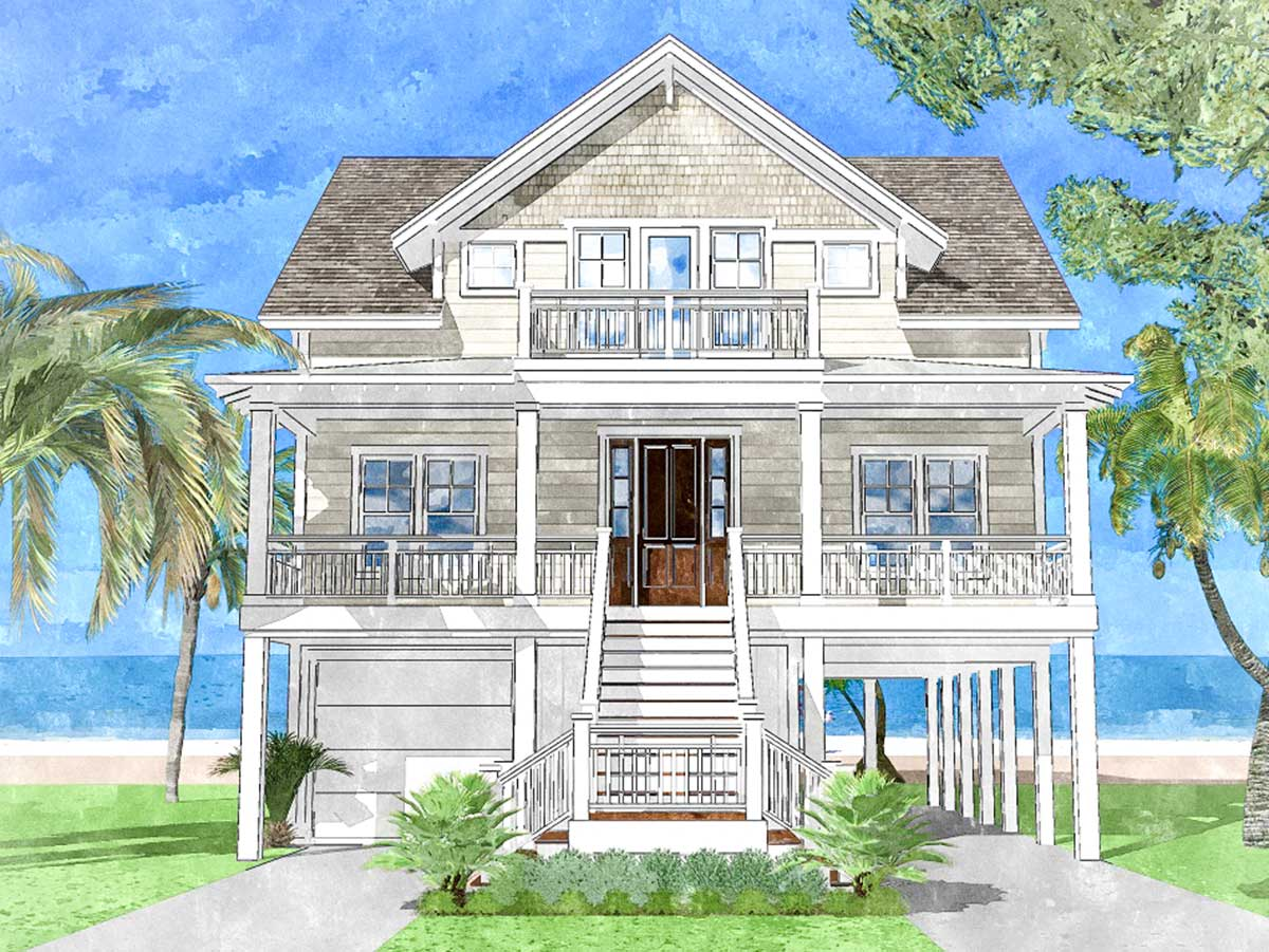 Upside Down Beach House - 15228NC | Architectural Designs ...