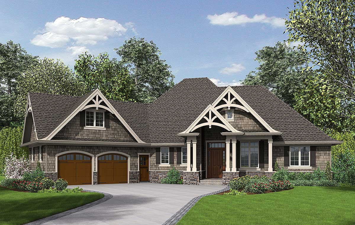3 Bedroom Craftsman Home Plan - 69533AM | Architectural Designs - House Plans