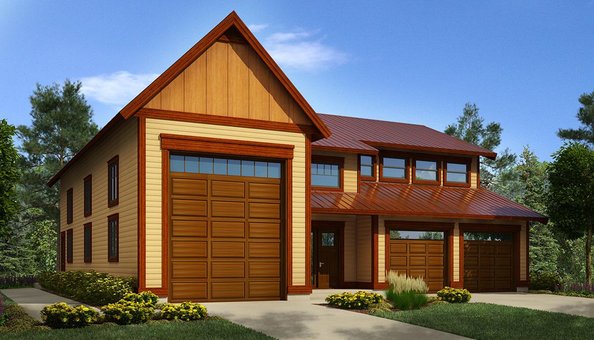 Workshop With RV Garage - 9838SW | Architectural Designs - House Plans