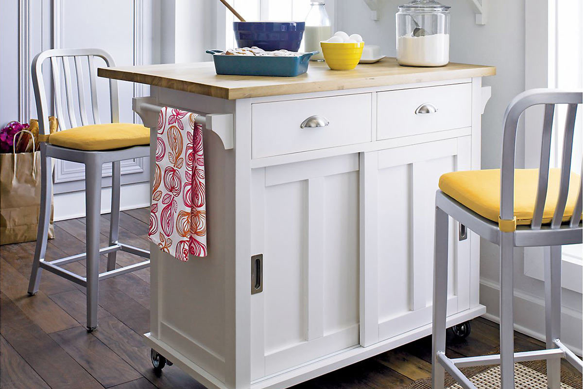 portable kitchen islands portable kitchen islands Belmont White Kitchen Island from Crate Barrel