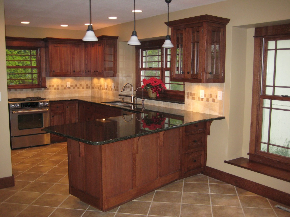 complete arts and crafts quartersawn white oak kitchen remodel remodel kitchen Complete Arts and Crafts Quartersawn White Oak Kitchen Remodel