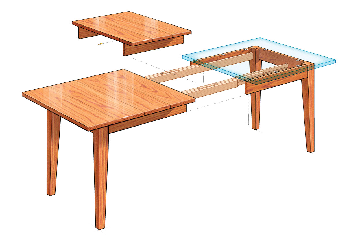 extension dining table kitchen table with leaf Dining table
