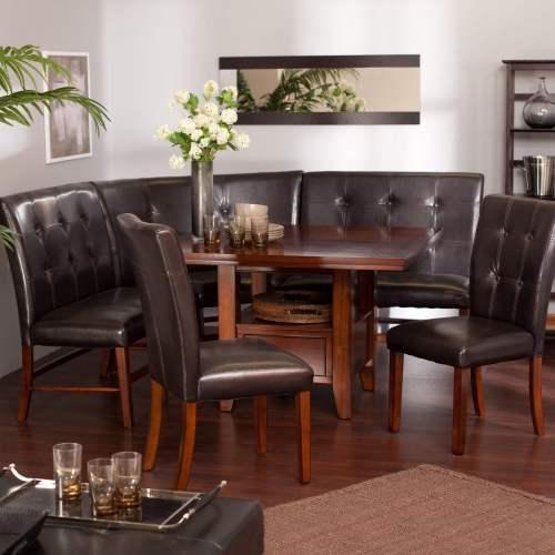 breakfast nook furniture sets kitchen table chairs Stunning Ravella Corner Six Piece Dining Nook Set