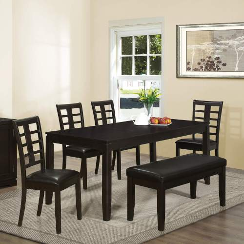 dining room sets bench seating kitchen table with benches Contemporary Asian inspired dining set with bench is a good size being able to accommodate