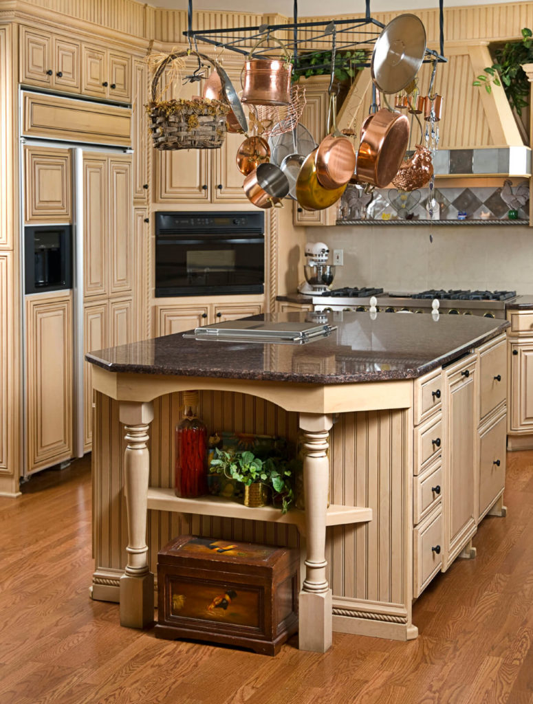 kitchens with light and honey wood floors light kitchen cabinets This beautiful kitchen is reminiscent of ancient architecture The lovely floor complements the color choices