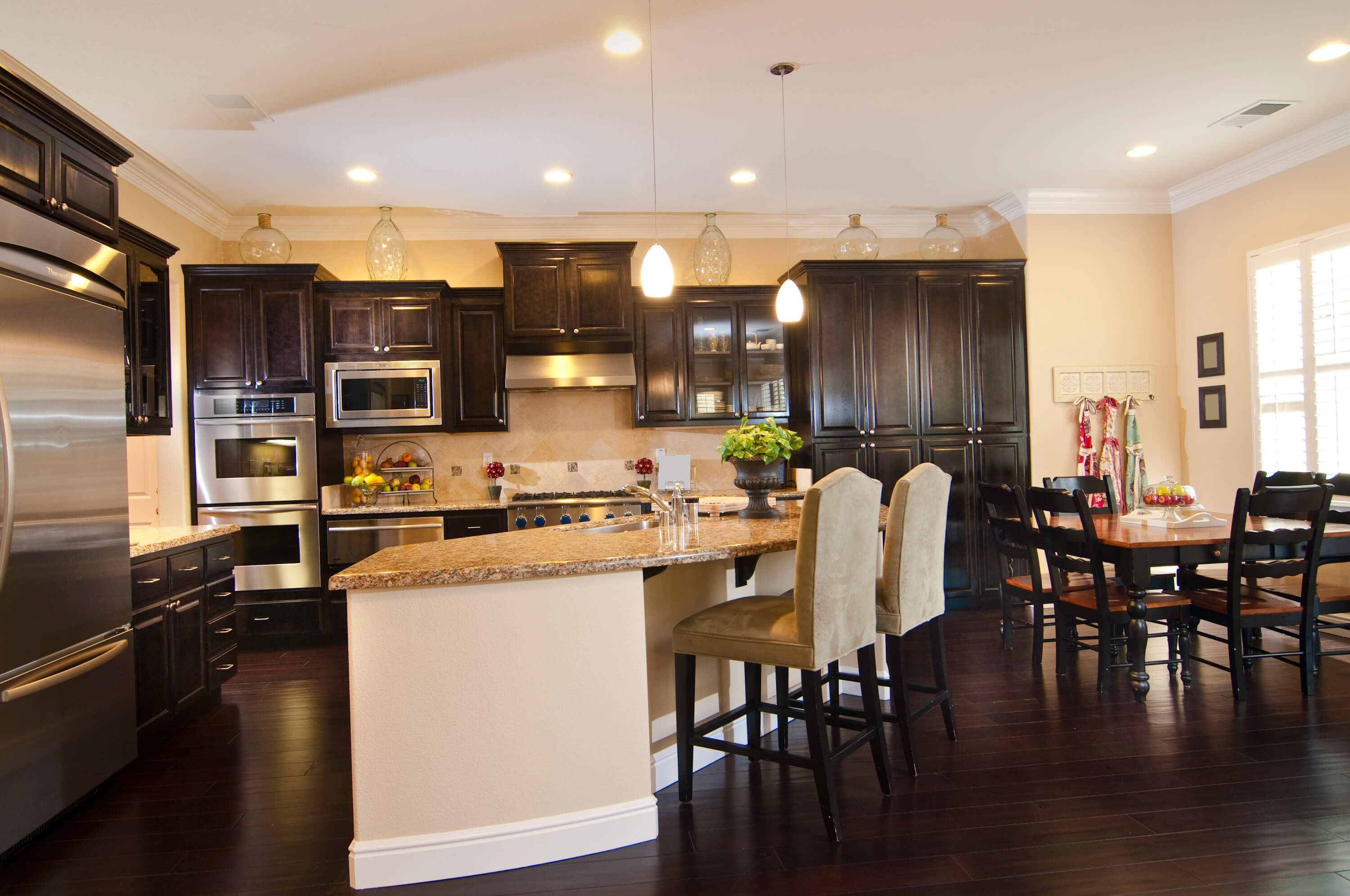 kitchens with dark wood floors kitchen floor cabinets