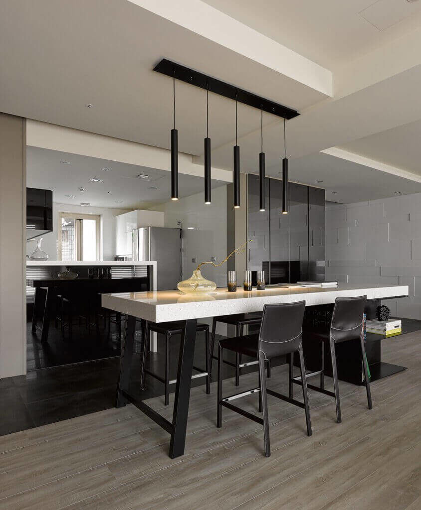asian kitchen ideas kitchens by design This simple and minimalist kitchen uses a fantastic monochrome design to build the contrast and balance