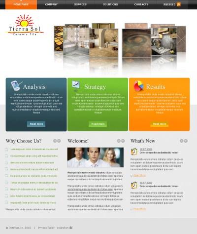 Web Page Design Contests » Tierra Sol Ceramic Tile - Web ...