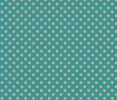 dots_mustard_yellow_on_teal fabric - katarina - Spoonflower