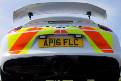 British Police Department Gifted a Porsche Cayman GT4 to Educate Young Drivers - The Drive