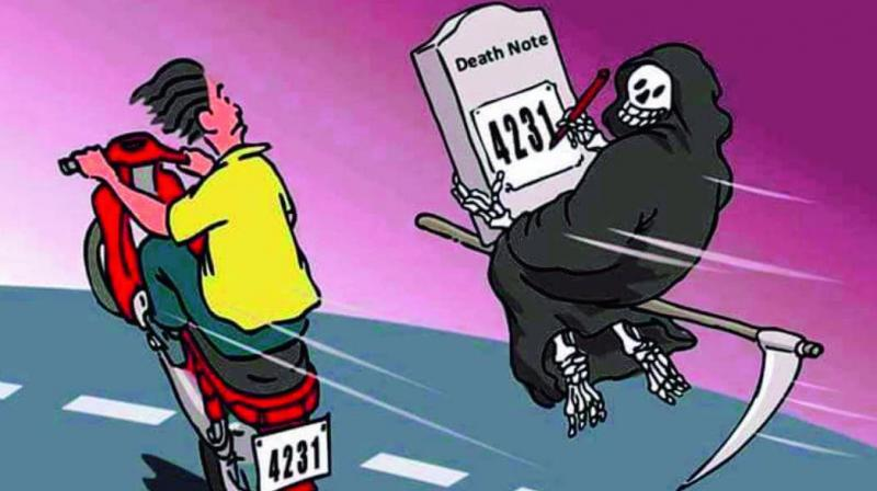 Hyderabad cops mix humour with awareness A cartoon posted by the Hyderabad traffic police on social media on  Saturday