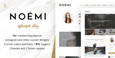 Noemi - Lifestyle & Fashion Blog by PX-lab | ThemeForest