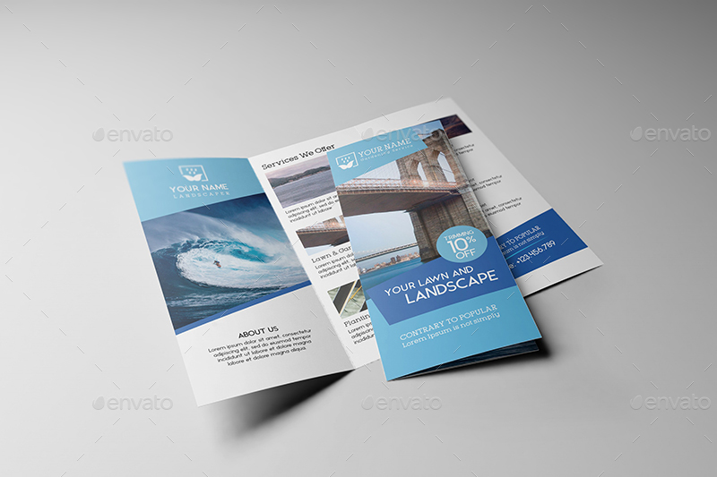 US Letter   Tri Fold Brochure Mock up by Wutip   GraphicRiver     17 US Letter Trifold Brochure Mockups jpg