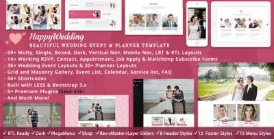 Wedding Planner by ThemeMascot   ThemeForest