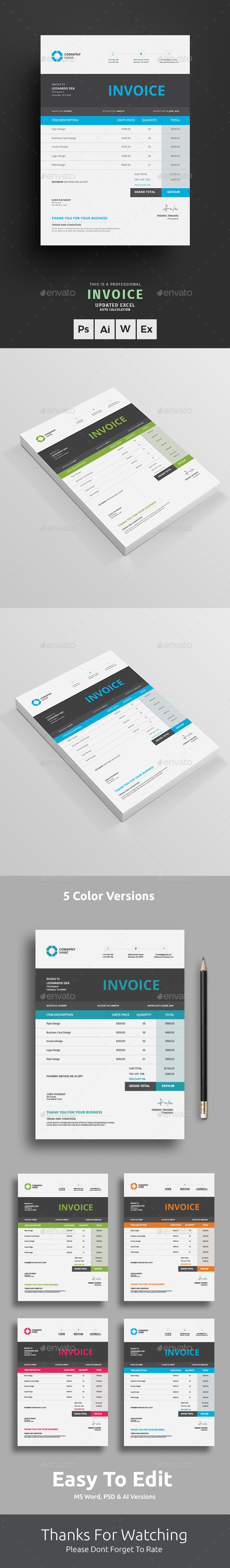 Invoice by themedevisers   GraphicRiver Invoice   Proposals   Invoices Stationery