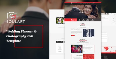 Soulart Wedding Planner & Photography PSD Template by ...