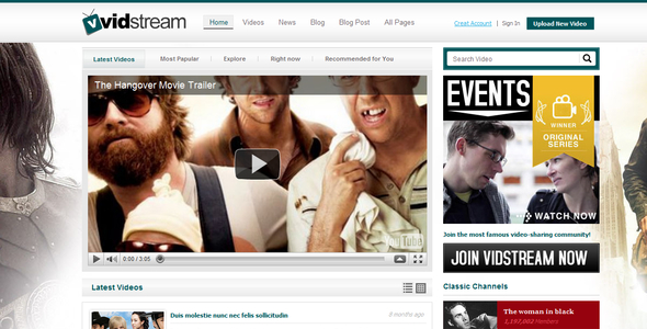 Film Streaming by Chimpstudio   ThemeForest Film Streaming   Film   TV Entertainment