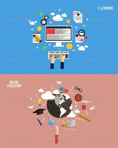 Icons for Online Education and e-Learning by graphics4u | GraphicRiver