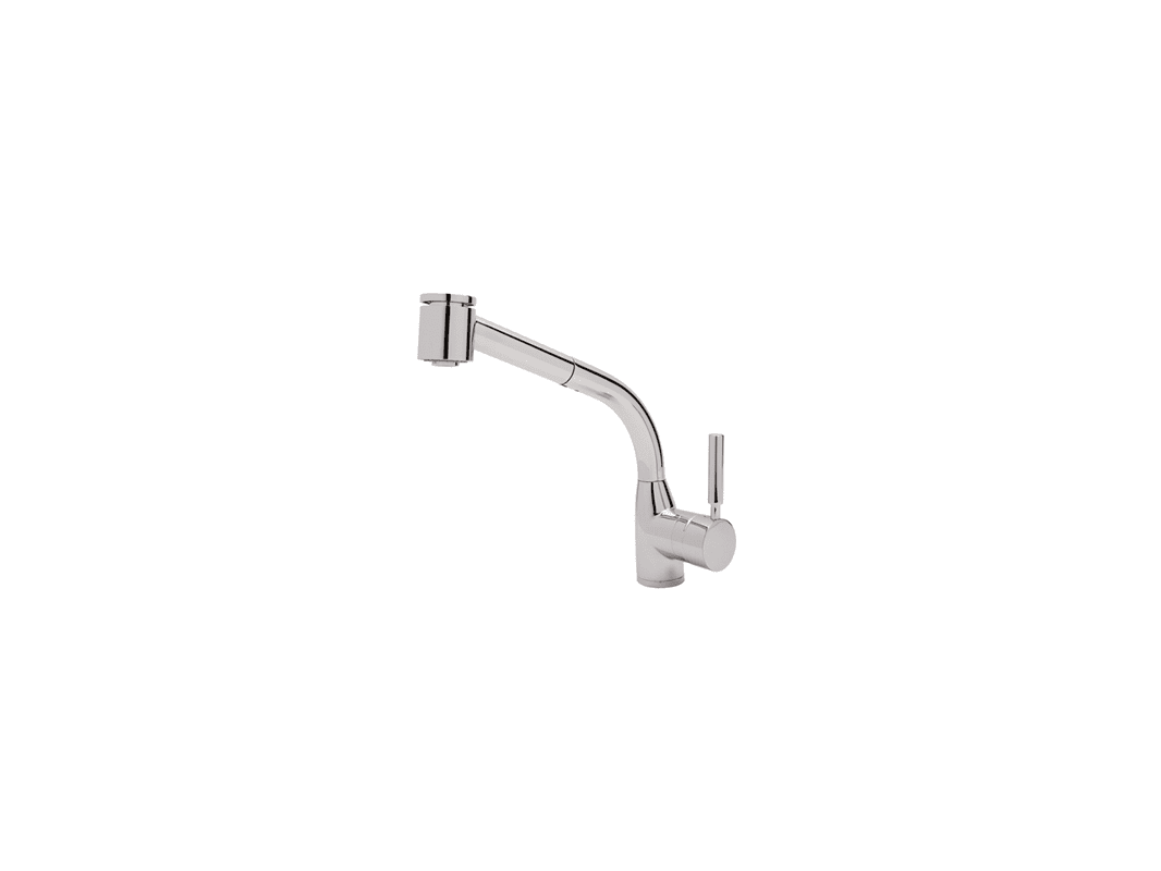 f rohl kitchen faucets Rohl RAPC Polished Chrome Lux Single Kitchen Faucet with Pull Out Spray and Metal Lever Handle Faucet com