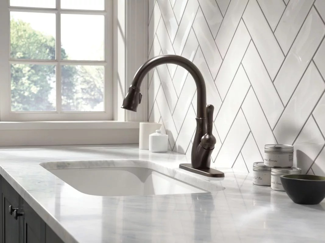 f delta bronze kitchen faucet Take