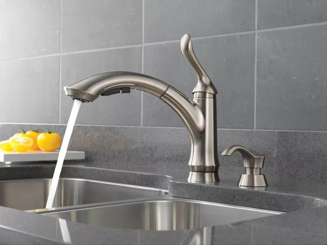 f delta linden kitchen faucet Product Product Application Shot