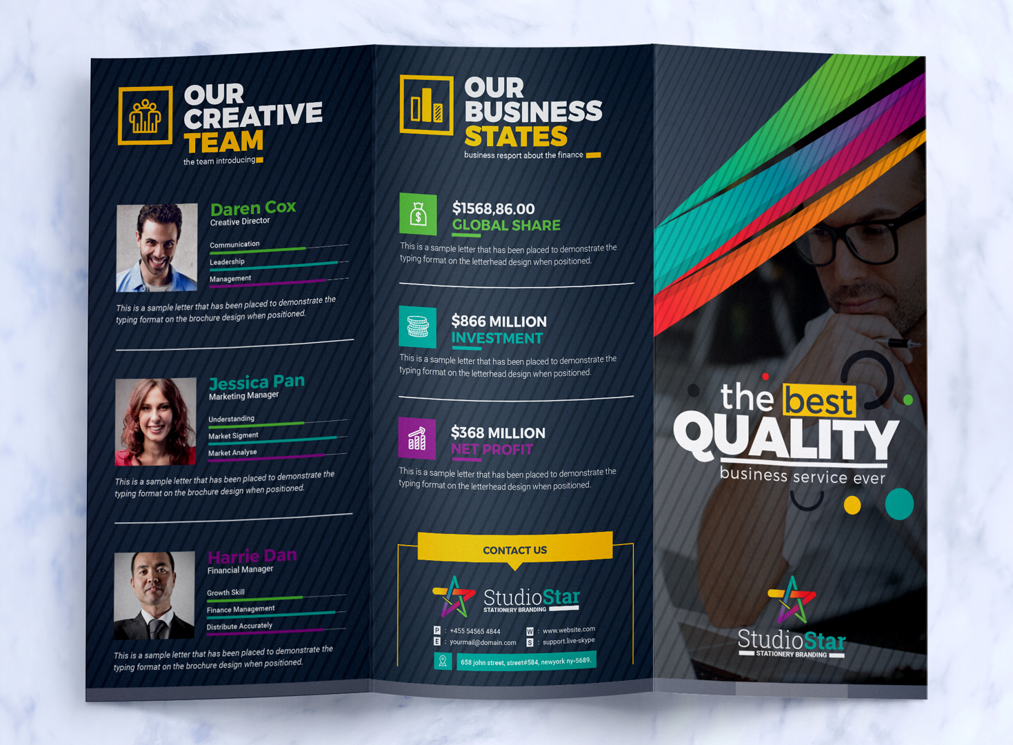 Tri Fold Brochure Design Template   Square and Tall Version     Zoom In  Add to Collection  Tri Fold Brochure Design Template