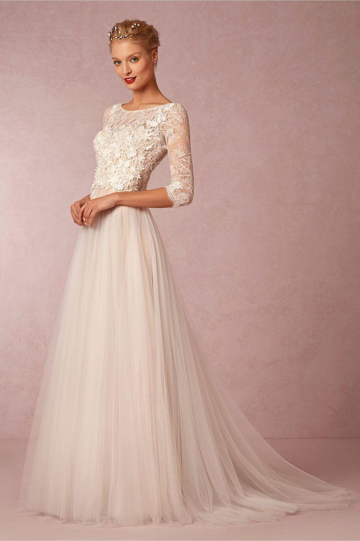 long sleeved 34 length sleeve wedding gown inspiration sleeved wedding dress Long Sleeved 3 4 Length Sleeve Wedding Gown Inspiration