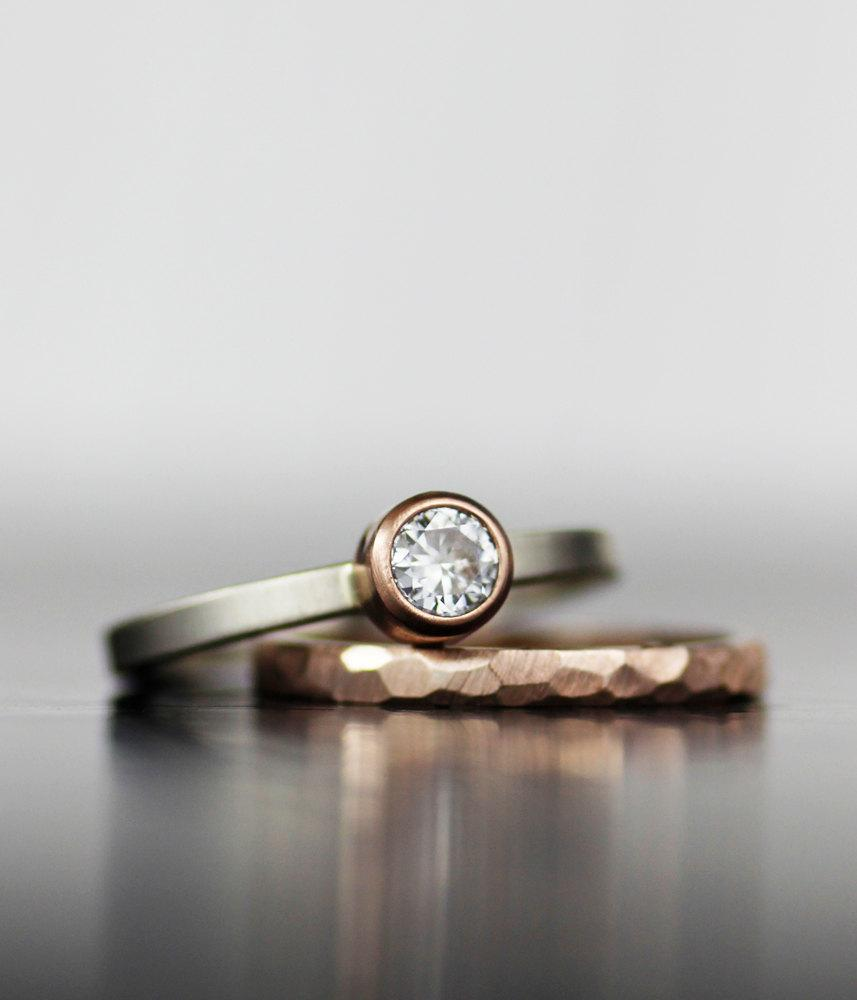 alternative engagement rings alternative wedding rings Curved engagement ring from Alba Rose