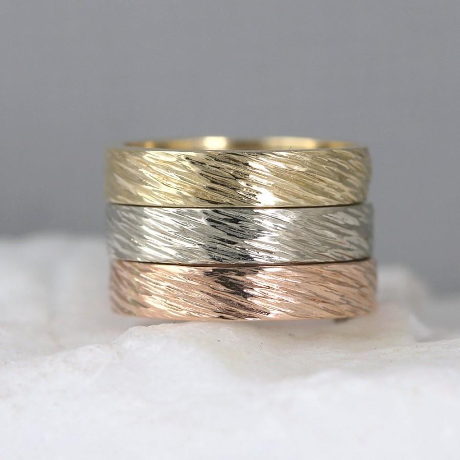 hammered wedding bands hammered wedding band Mens hammered wedding ring and women s diamond wedding ring