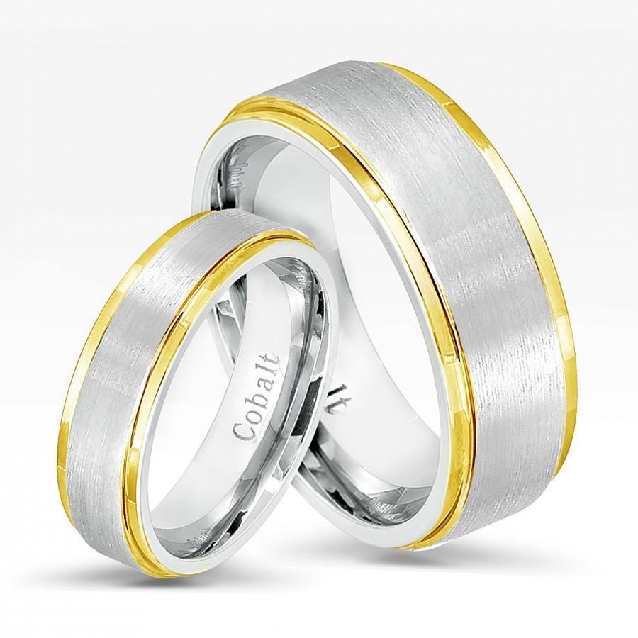 beveled matte wedding ring cobalt cobalt wedding bands Beveled Edge Matte Wedding Ring in Cobalt 6mm