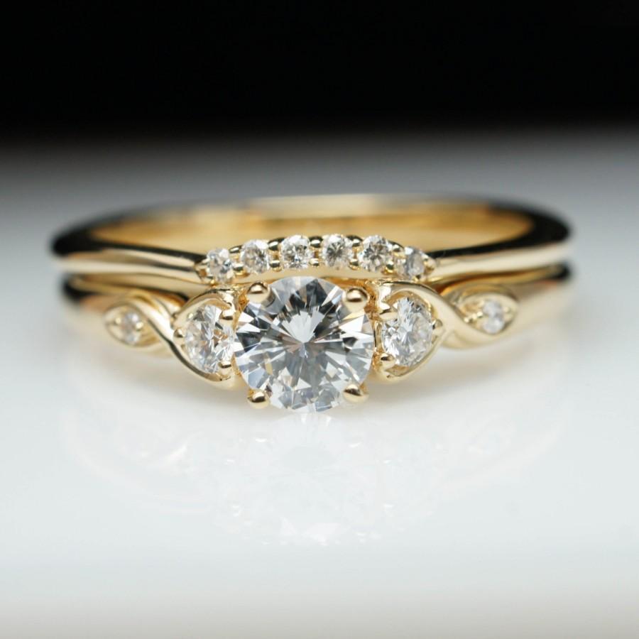 14k white gold 1 3B carat tw diamond bridal set 1 wedding ring bridal set Hover to zoom