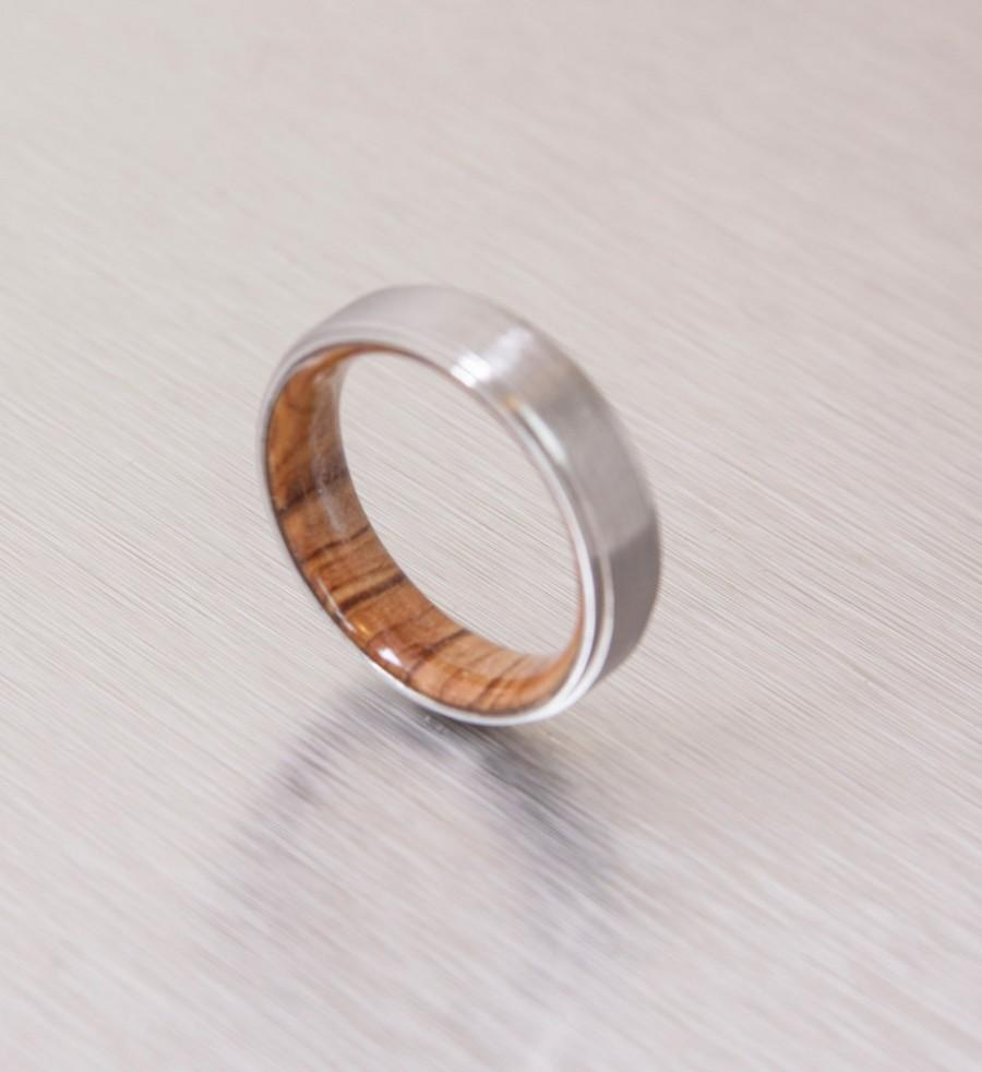 ebony wood ring wood wedding bands Bentwood Ring Rosewood Wood Ring Silver Glass Inlay durable and beautiful wooden engagement ring wood wedding ring or wood ring gift