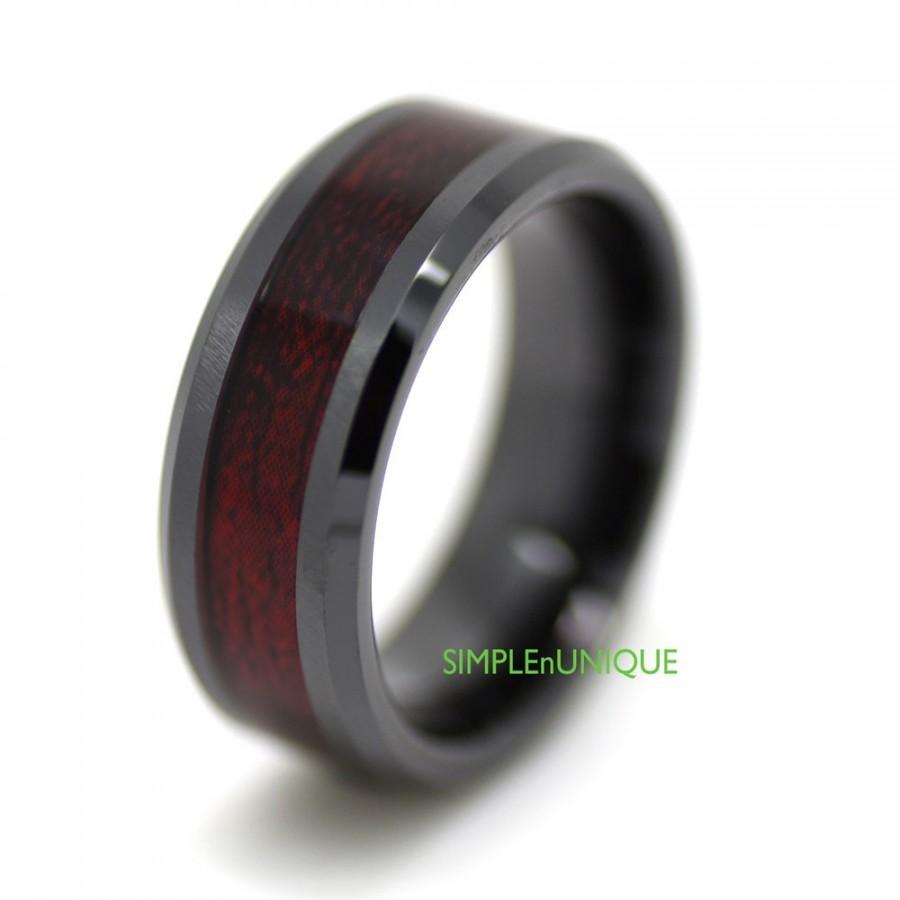 black mens wedding rings Black Diamond Tungsten Carbide Men s Wedding Ring Band 8mm classic engagement eBay