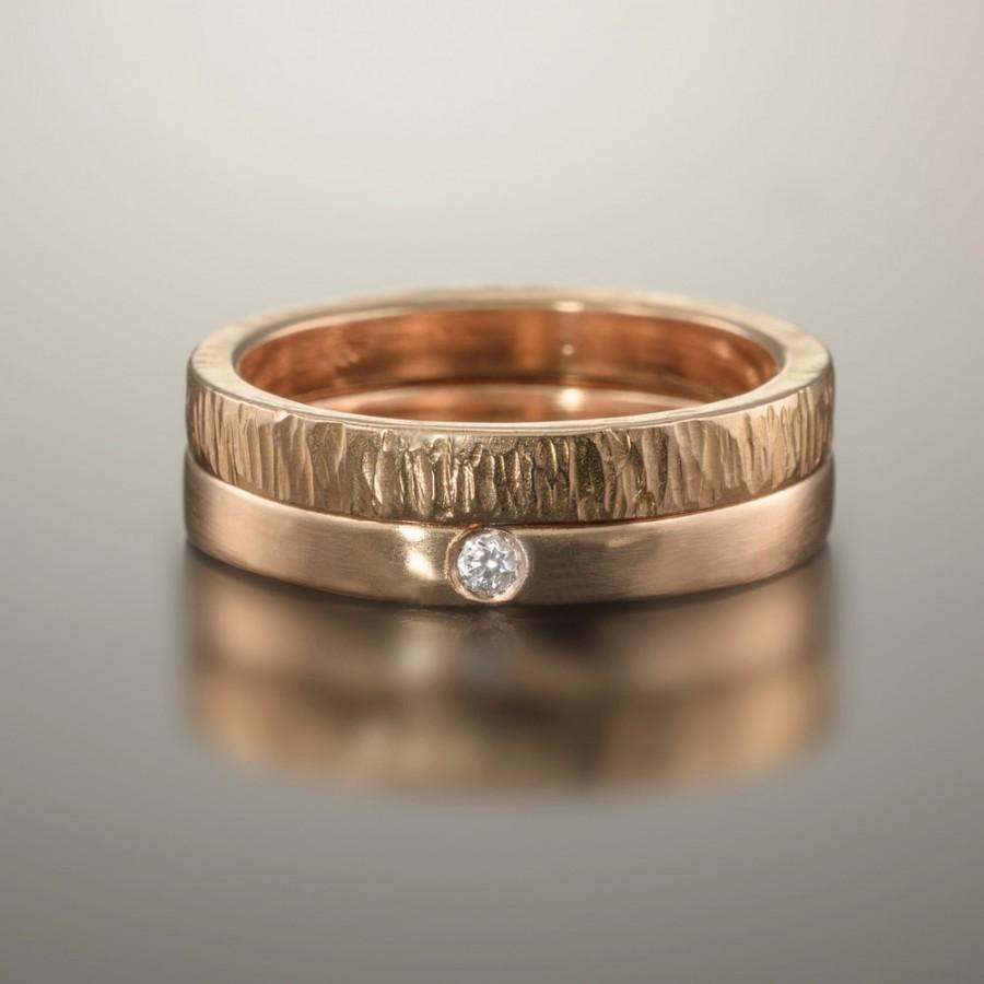 matching split heart diamond wedding ring set yellow gold gold wedding ring sets