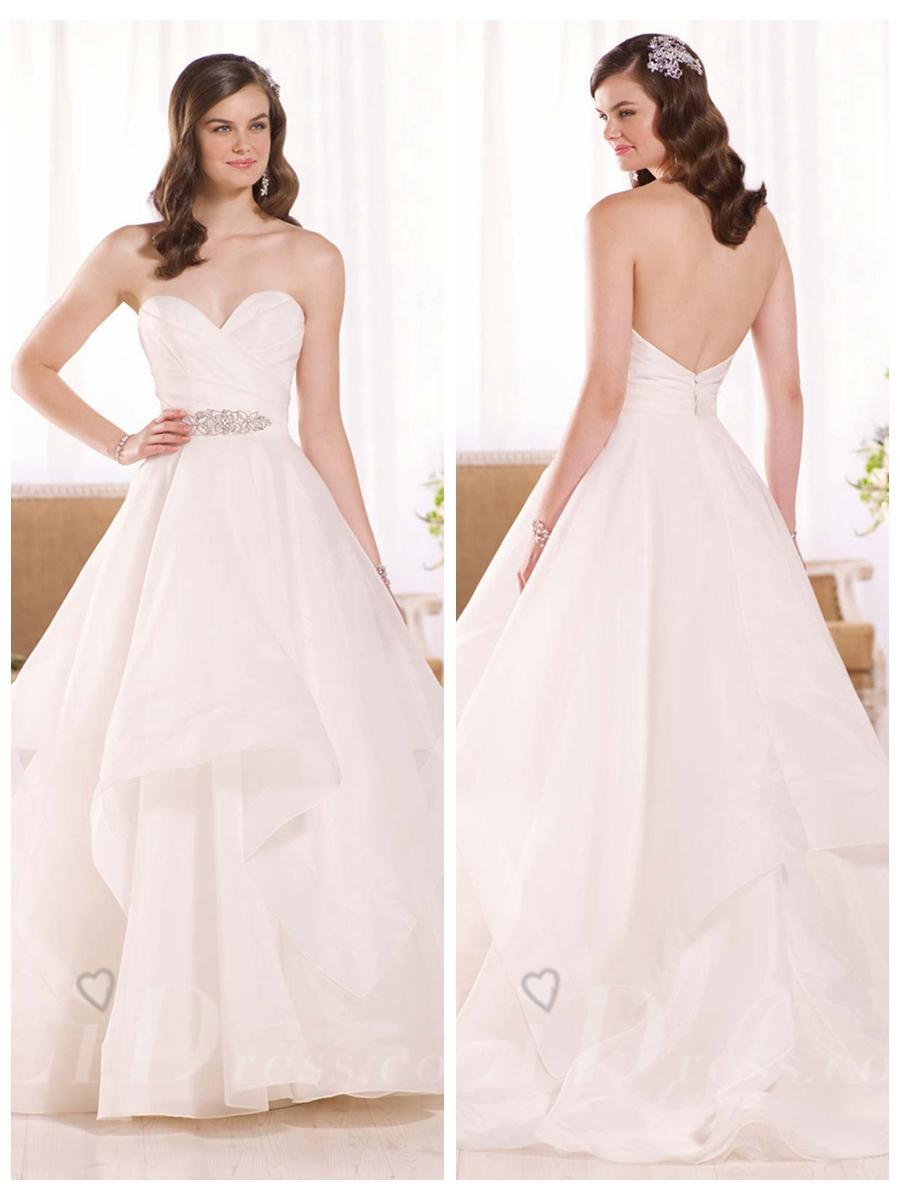 layered wedding dress skirt wedding dress skirt Strapless Ruched Sweetheart Wedding Dress With Layered Skirt