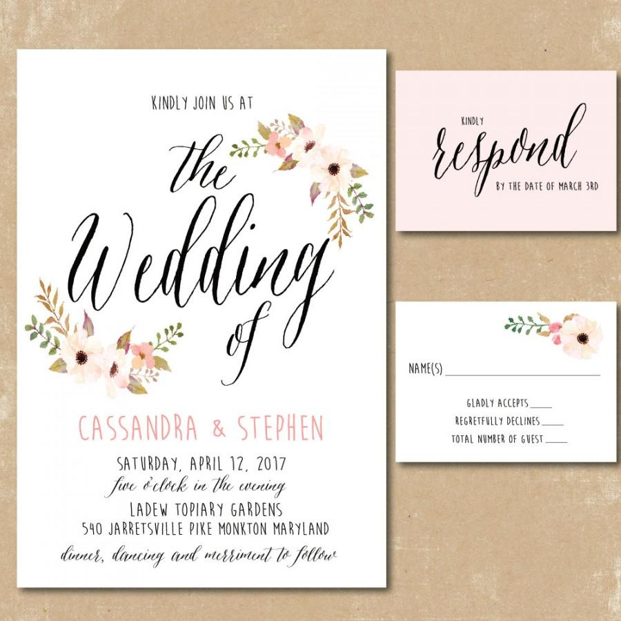 make your own wedding invitations print at home wedding invitations printing Design And Print Invitations At Home Landscaping