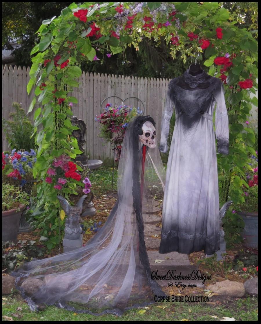 zombie wedding dress up corpse bride wedding dress Y Zombie Bride Costume