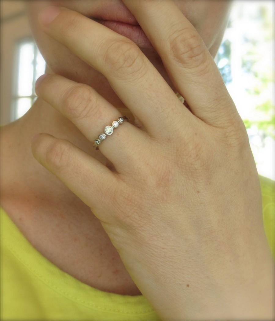 gold wedding band 14k yellow gold ring low profile wedding ring Low Profile Ring zoom