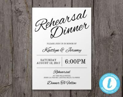 Printable Wedding Rehearsal Dinner Invitation Template ...